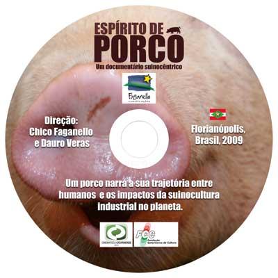 Rótulo do DVD Espírito de Porco. Arte: João Zanatta