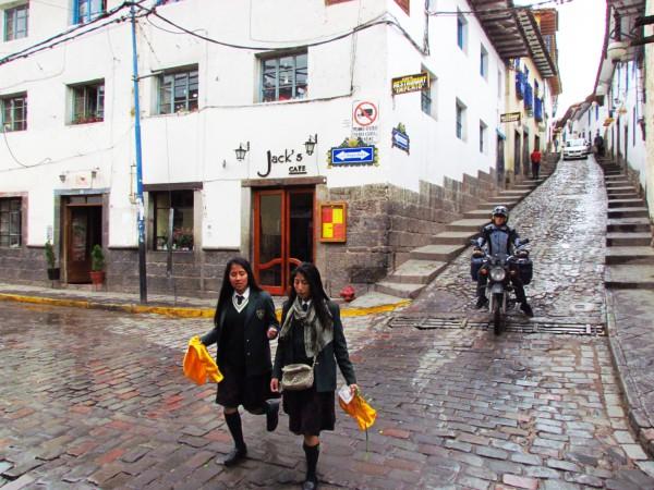 Estudantes em Cusco